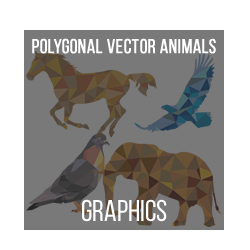 Animals Polygonal Vector Illustrations